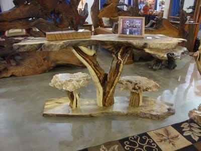 natural wood table table