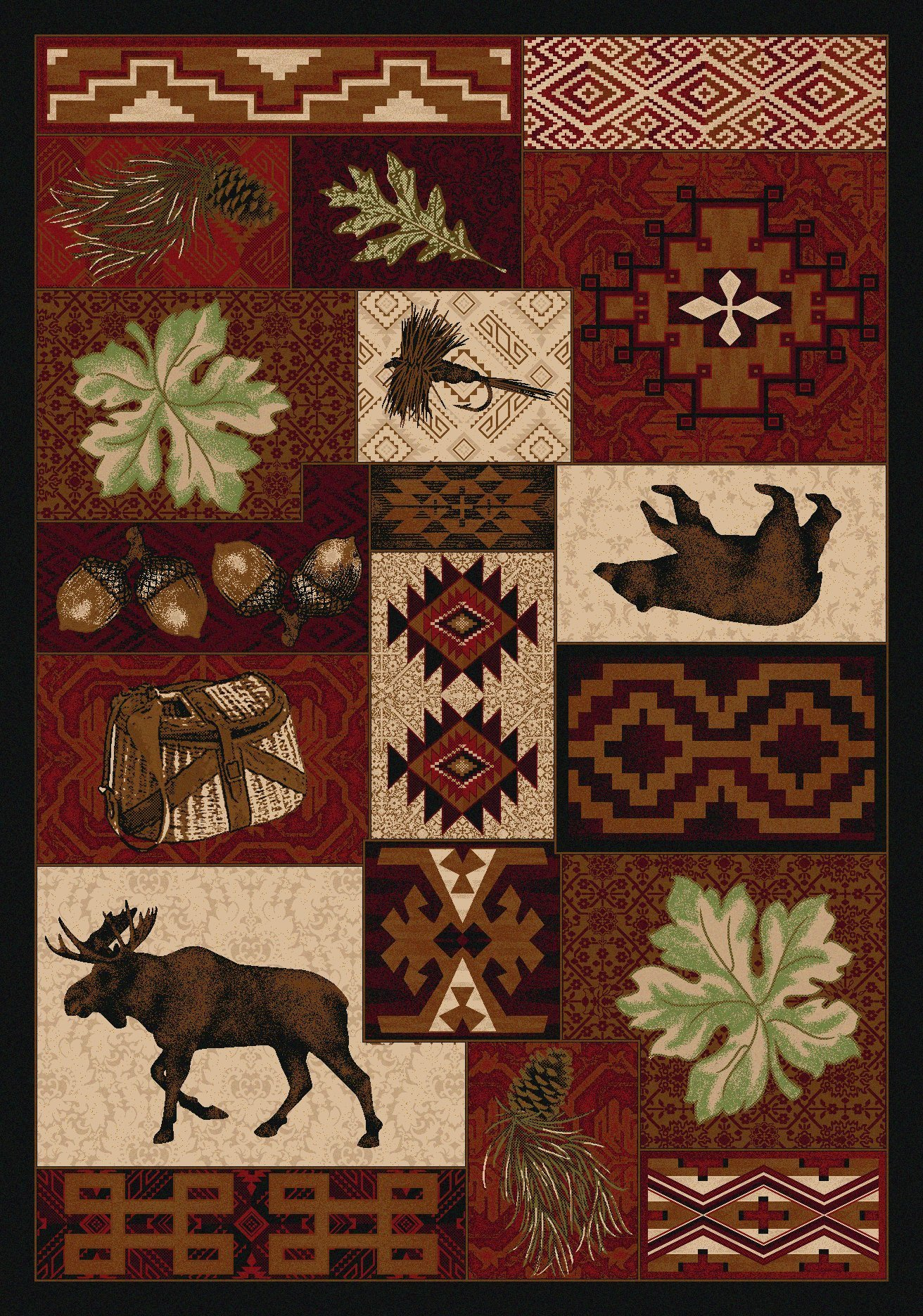 chief big southwestern runner area differ dakota western american rug from ship native rugs free how