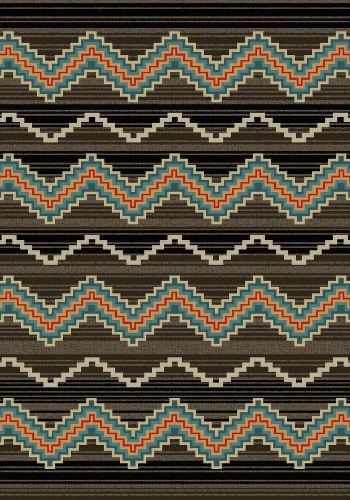 Trapper - Brown | Southwestern rugs by American Dakota