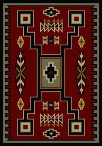 old crow - red | southwestern rugs by american dakota