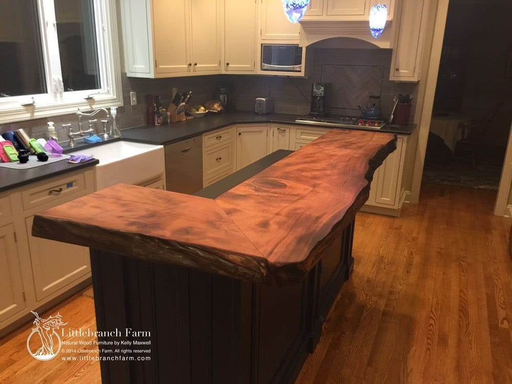 natural wood countertops live edge wood slabs ForNatural Edge Wood Countertops