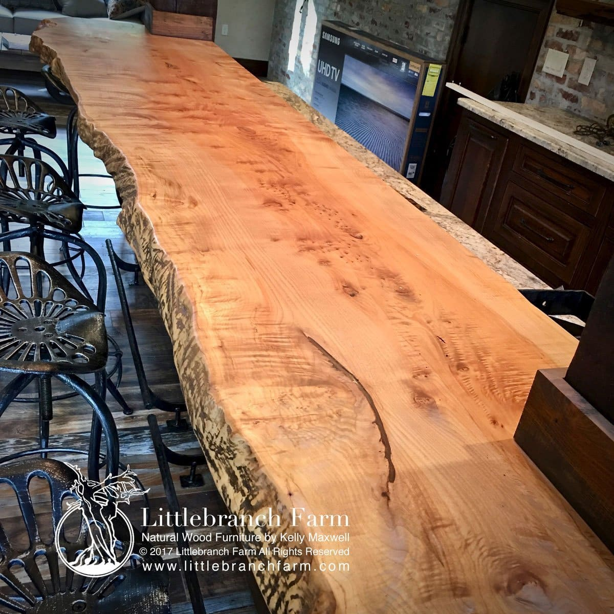 Natural Wood Countertops Live Edge Slabs