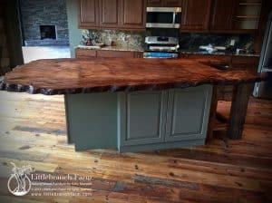 Slab wood countertop