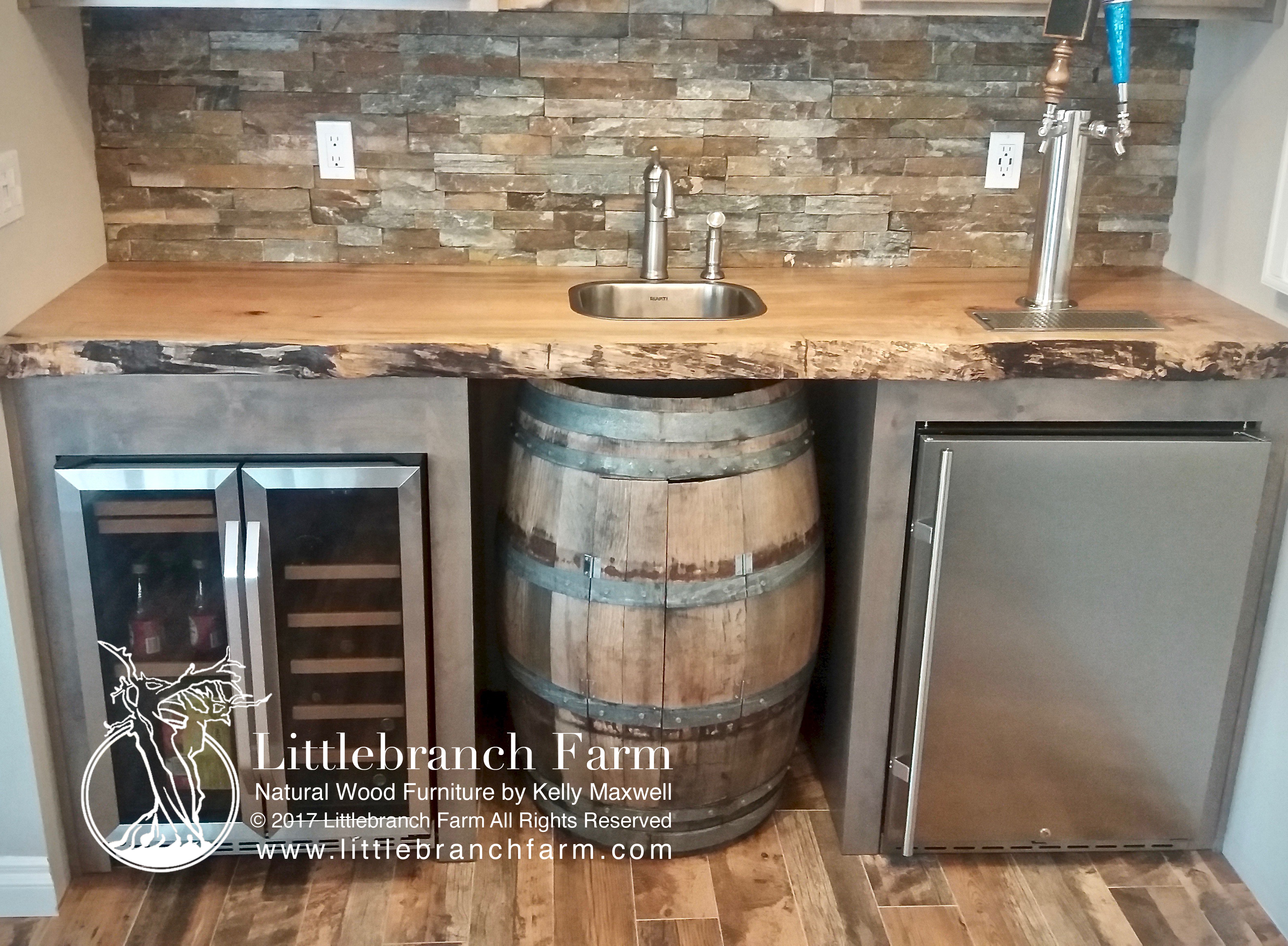 Wood Slab Kitchen Countertops Natural Wood Countertops  Live Edge Wood Littlebranch Farm