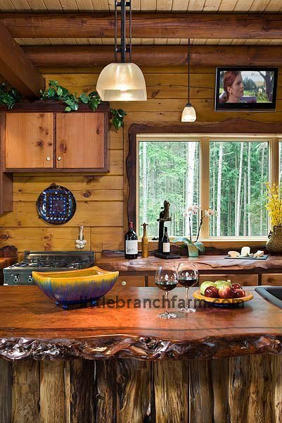 slab wood countertops - wood countertops | Littlebranch Farm