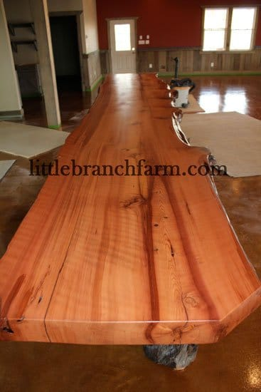 Redwood natural wood countertops