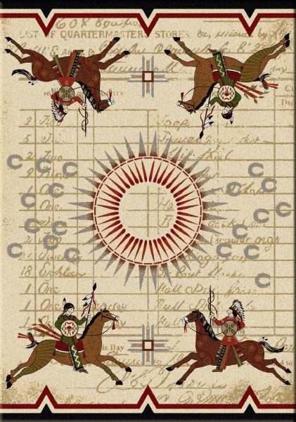 War Records - Multi - South Western Rugs by American Dakota Rugs