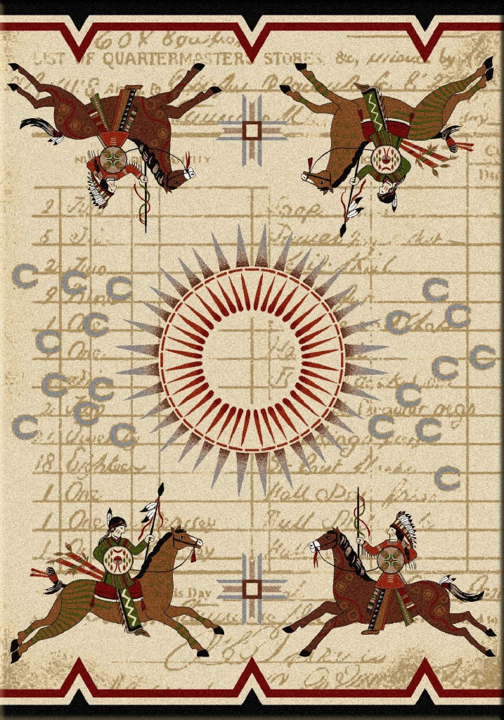 War Records - Multi - South Western Rugs by American Dakota Rugs