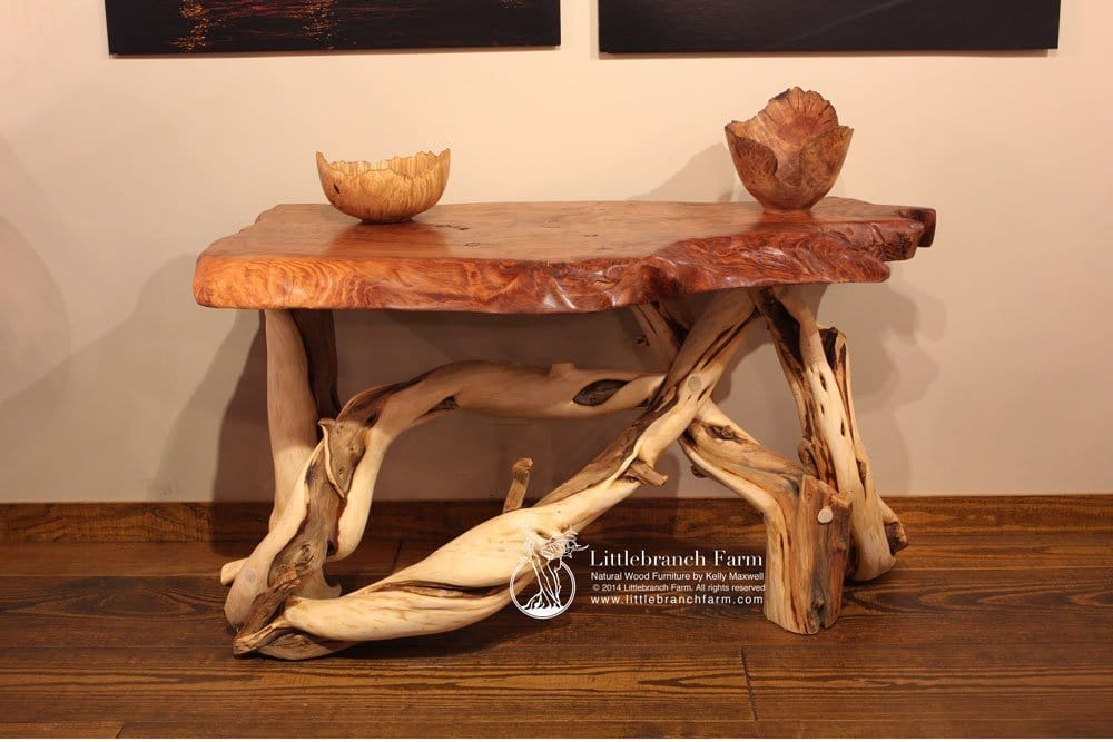 Burl furniture live edge wood custom furniture littlebranch farm Unique wooden furniture