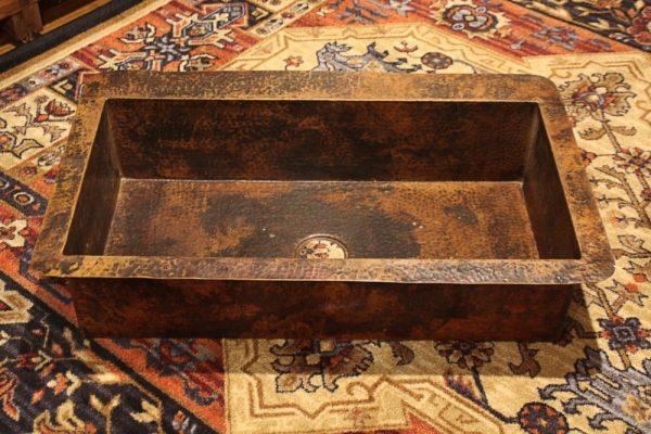 Rustic Copper Kitchen Sink Single Well | Littlebranch Farm