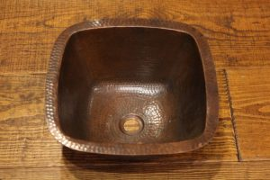 Square Copper Sink Plain | Littlebranch Farm