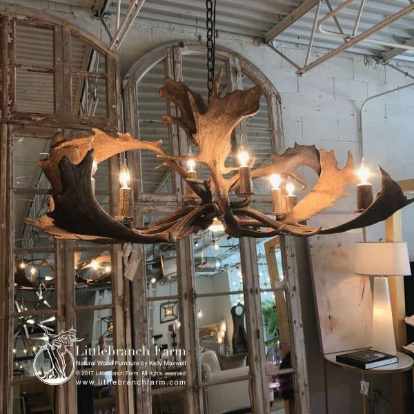 real antler chandelier