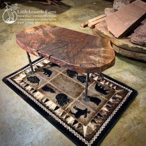 rustic claro wlanut coffee table