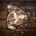rustic antler lighting