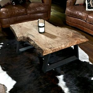modern wood slab table
