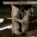 rustic table base