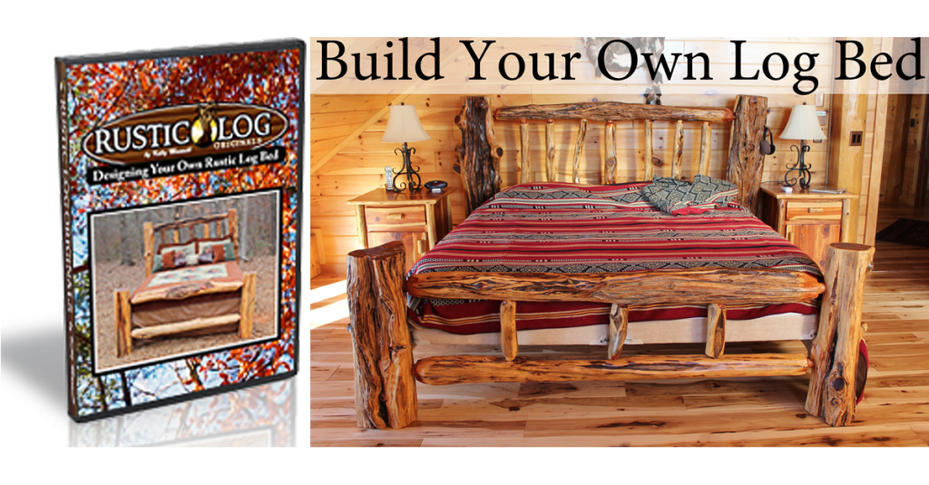 Rustic log originals How to build a log bed