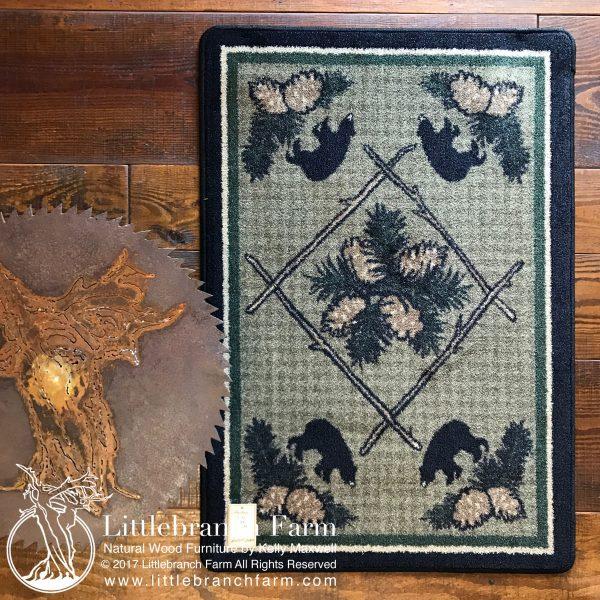 Black bear rugs