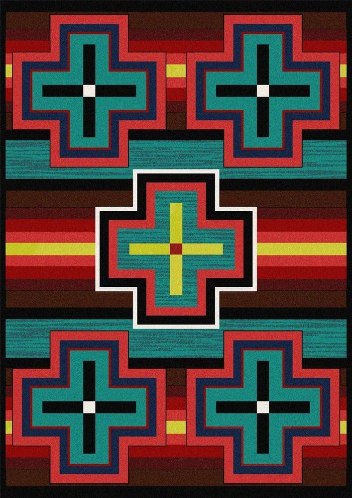 Southwestern Area Rugs Bounty Bright Littlebranch Farm