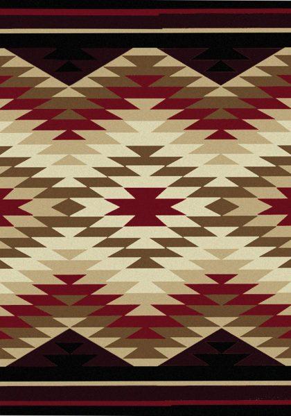 Rustic area rugs
