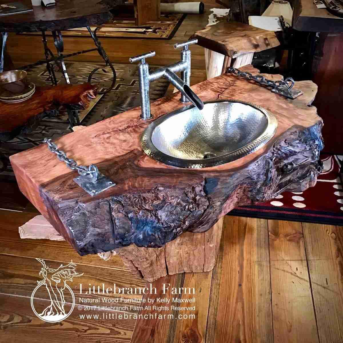 Rustic Vanities Rustic Vanity Bathroom Vanity Littlebranch Farm
