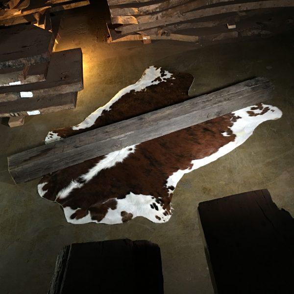 Reclaimed wood mantel