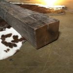 Barn wood mantel