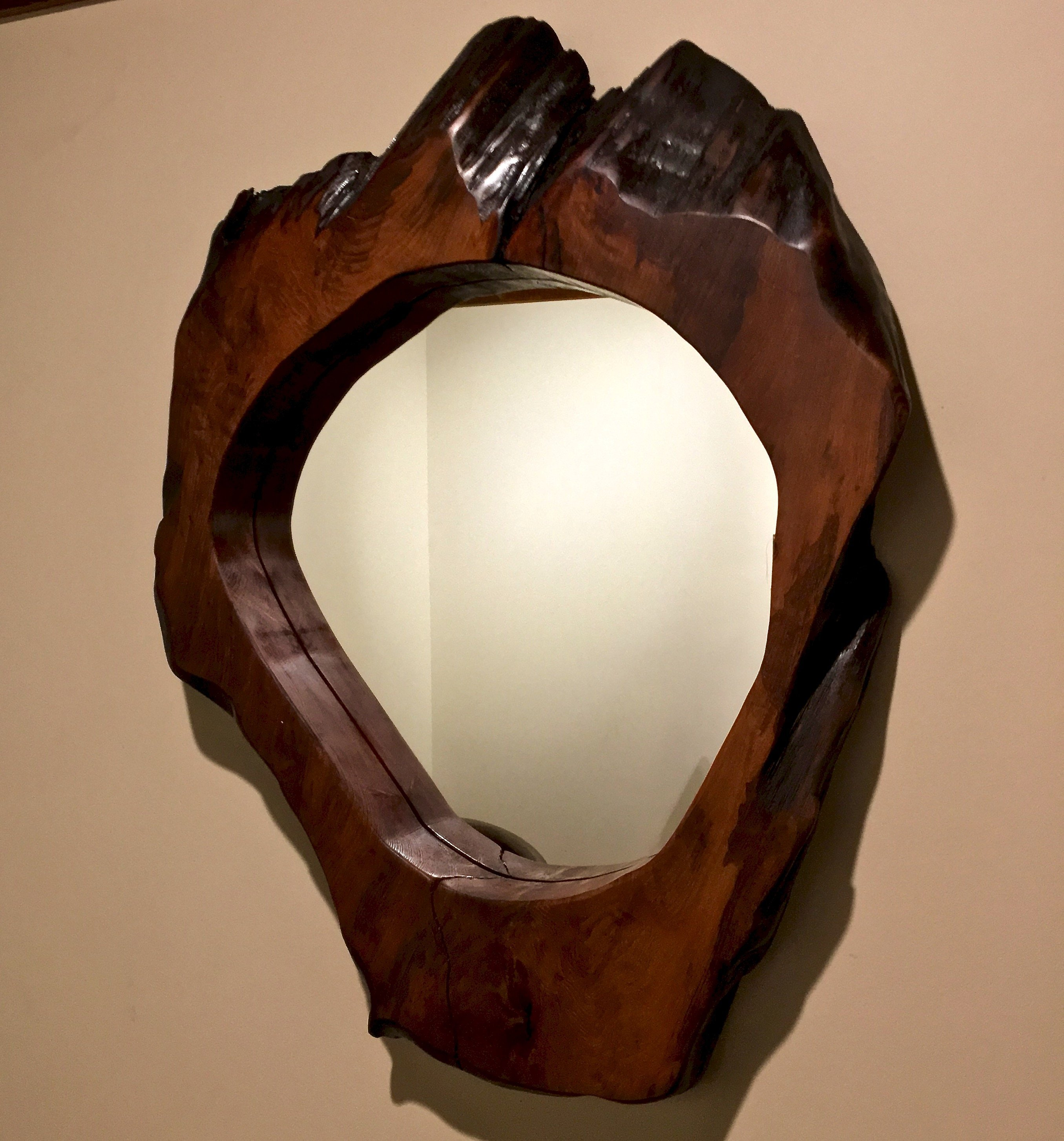 live edge wood mirror
