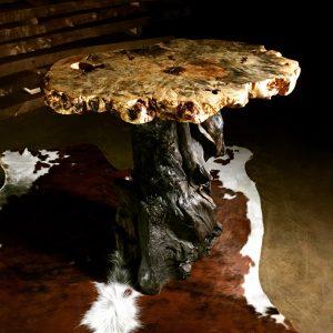 Buckeye burl wood table