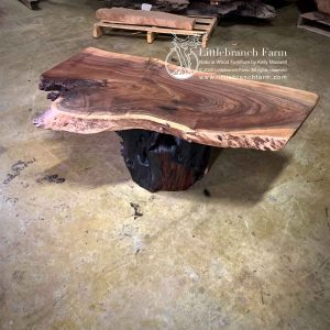 Claro walnut rustic coffee table