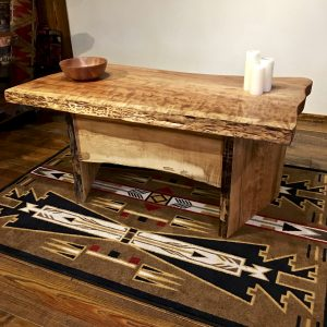 Live edge home office desk