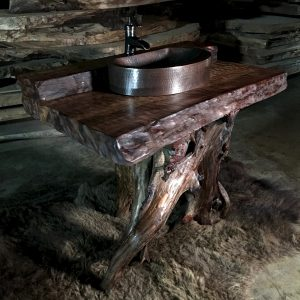 driftwood vanity