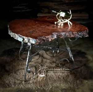 Burl wood accent table