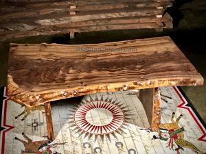 claro walnut slab table