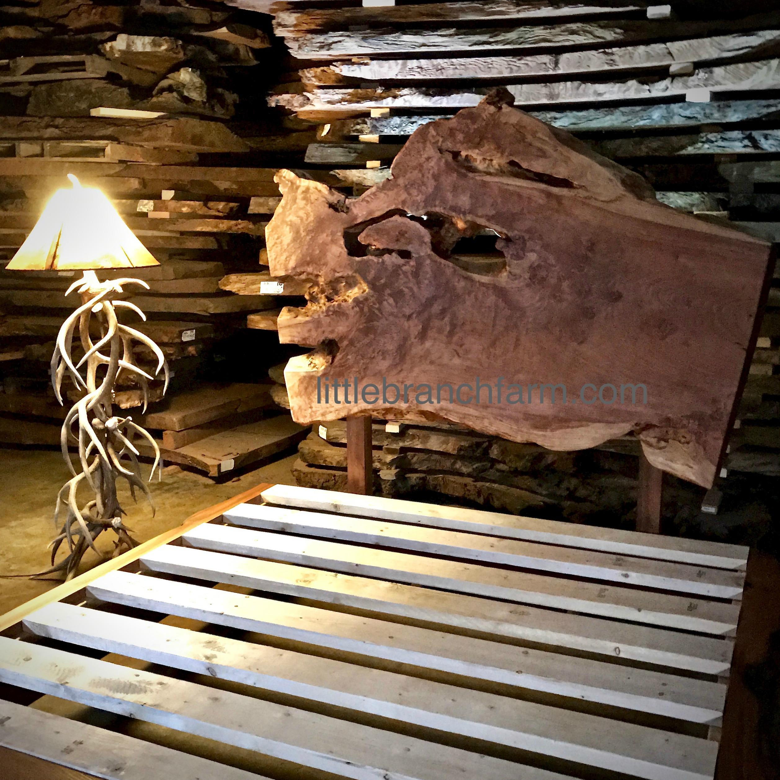 Wood slab platform bed littlebranch farm for Bed slab