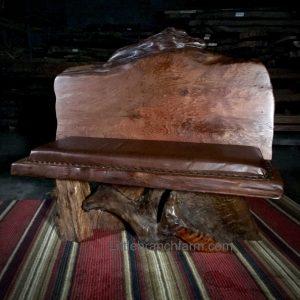 wood slab bench
