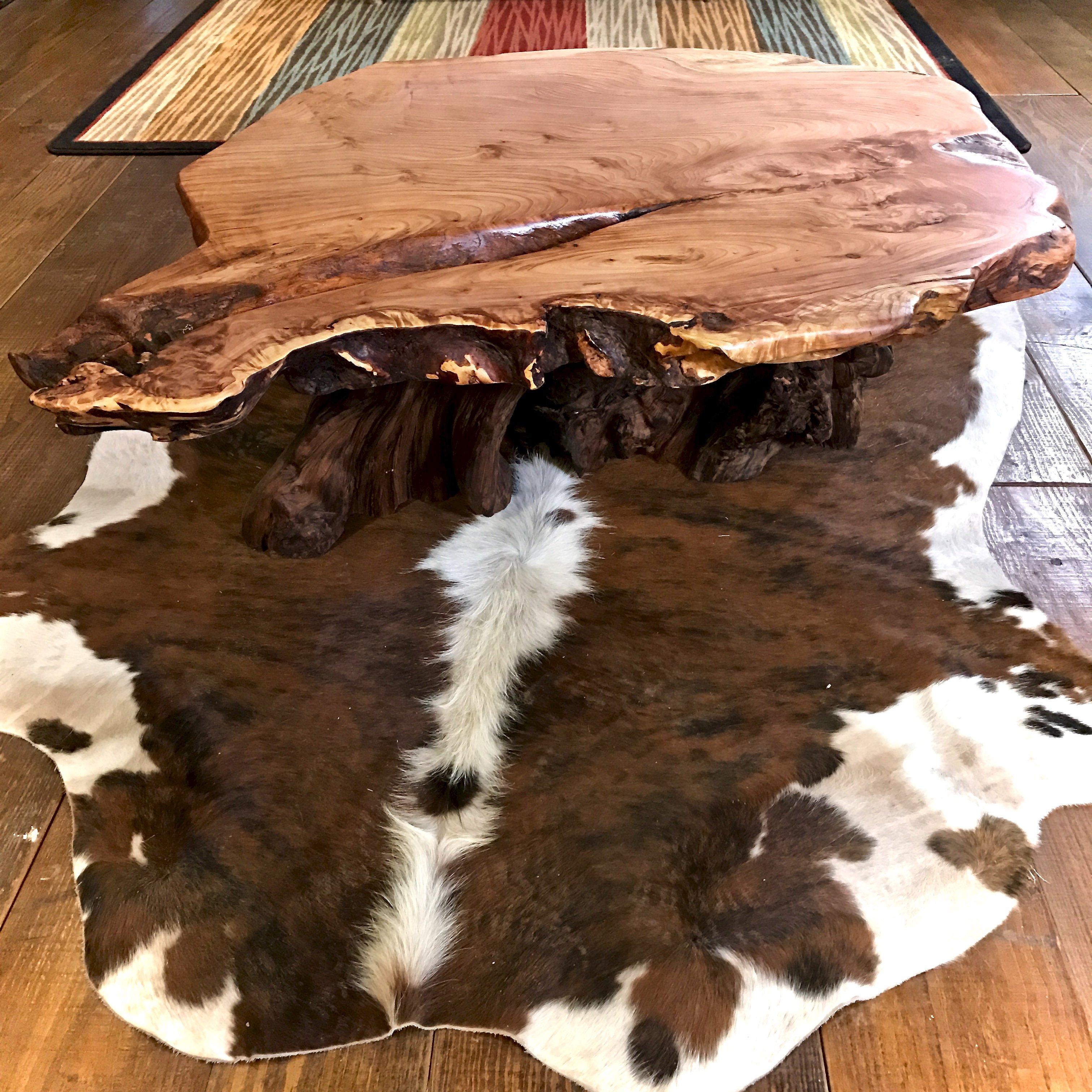 Slab wood table