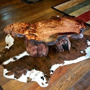 Live edge slab table