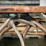wood slab antler furniture