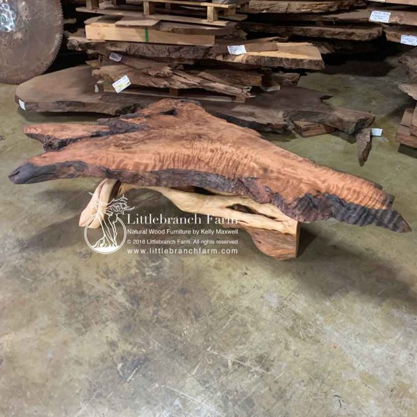 Rustic live edge slab table