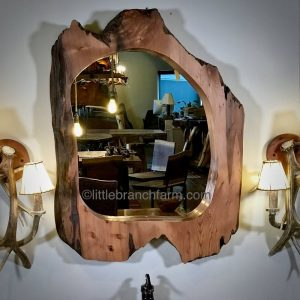 wood slab mirror