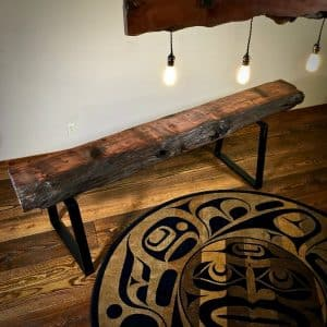 wood slab mantel