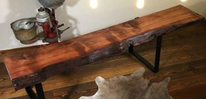reclaimed wood mantel