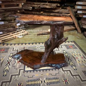 driftwood wood slab console table