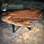 Burl wood dining table