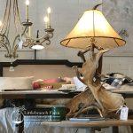 Rustic chic lamp