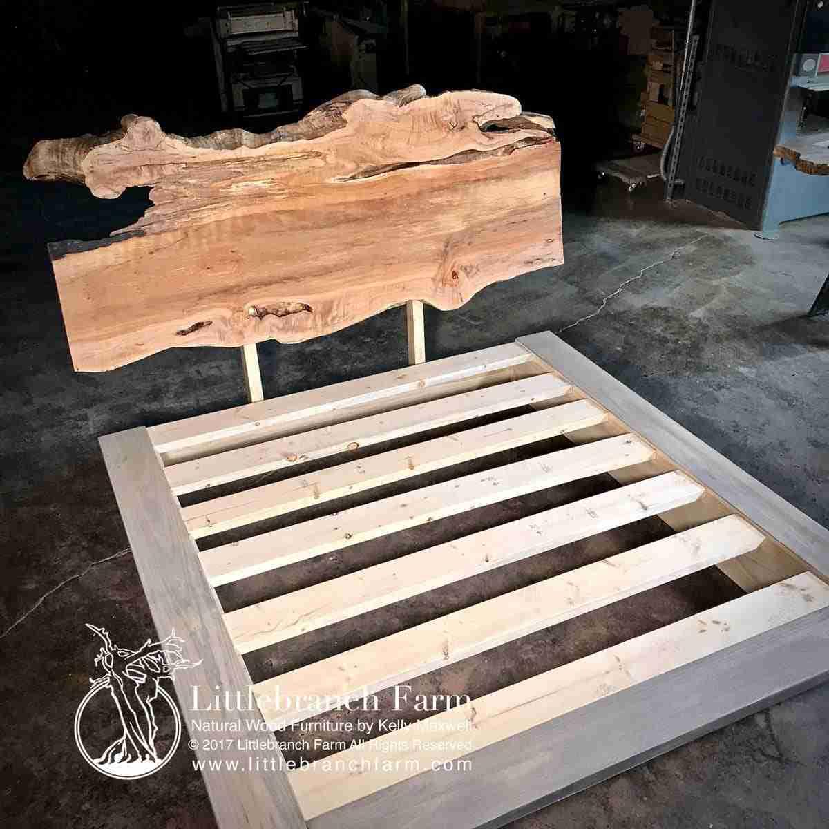Natural Wash Platform Bed
