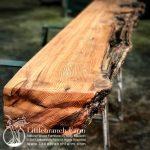wood mantel