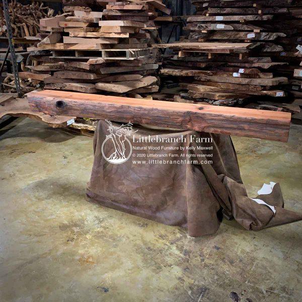 live edge wood mantel