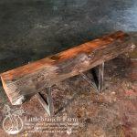 burl wood mantel